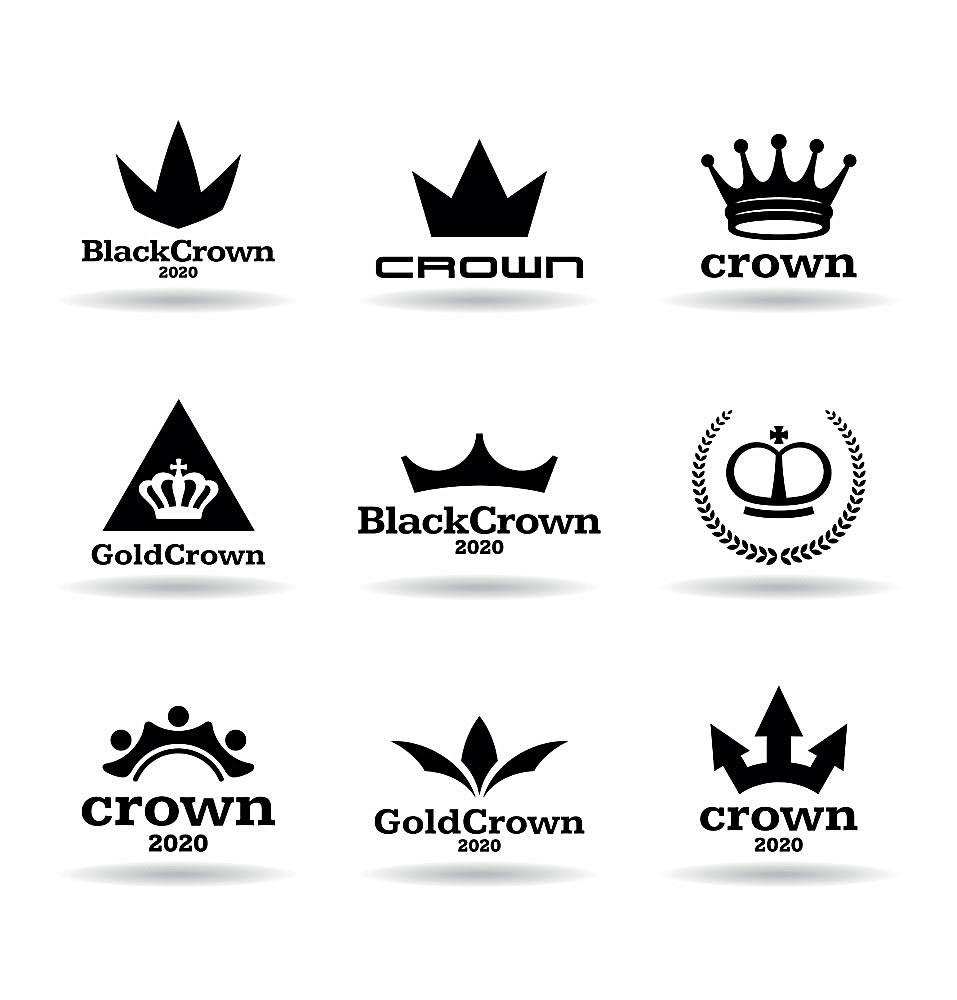 黑色皇冠logo设计