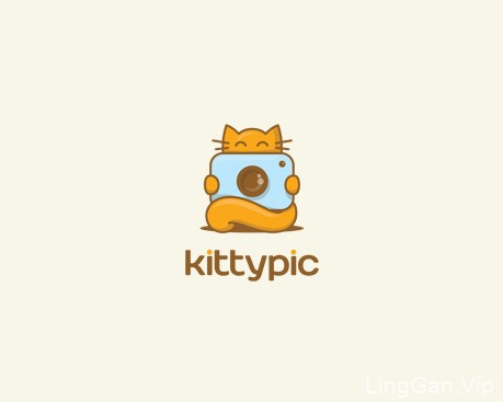 kittypic-儿童相机LOGO设计