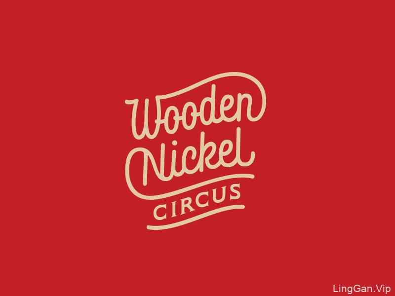Wooden Nickel Circus国外字母创意LOGO