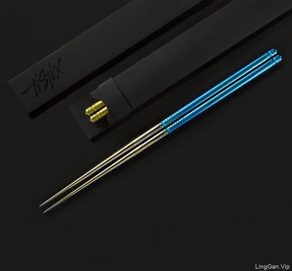 TiStix国外钛筷子字母创意新颖LOGO标志包装设计