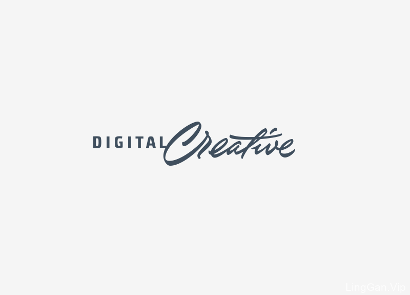 Digital Creative国外创意字母标志LOGO设计