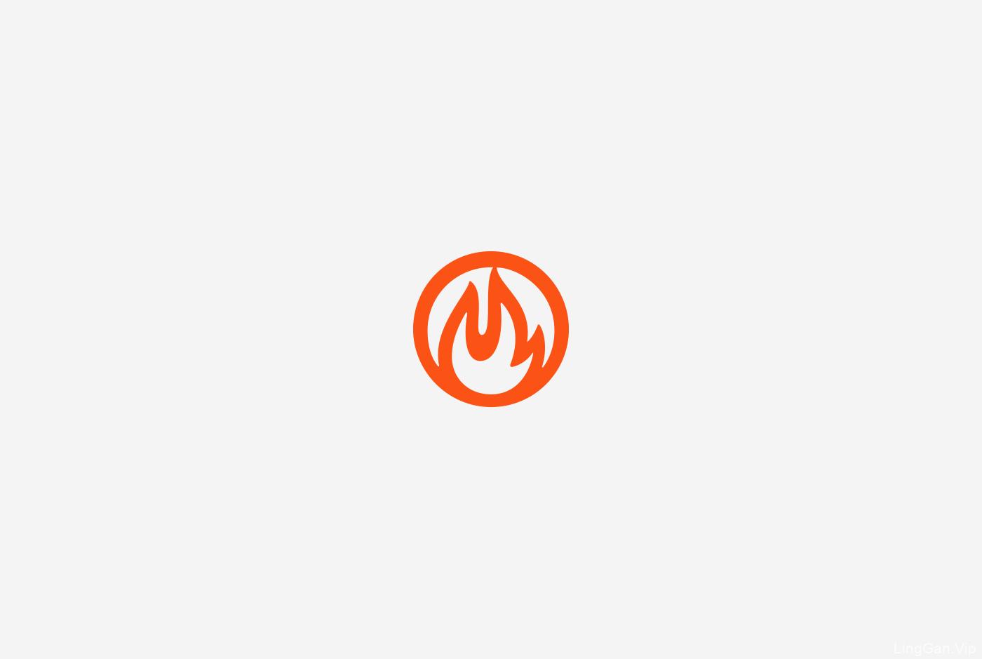 Fireplace 国外文字创意logo
