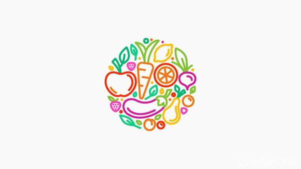 收集的国外16个漂亮的线条形式LOGO标志设计欣赏