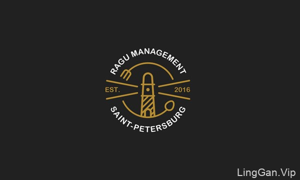 2017年收集的俄罗斯设计师POMAH的logo标志设计作品