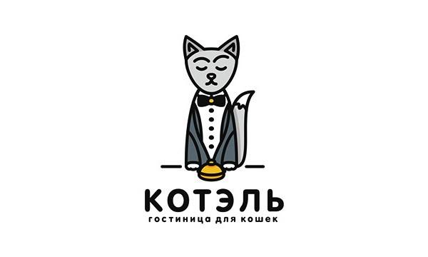 17个以猫咪元素形状logo标志设计(二)