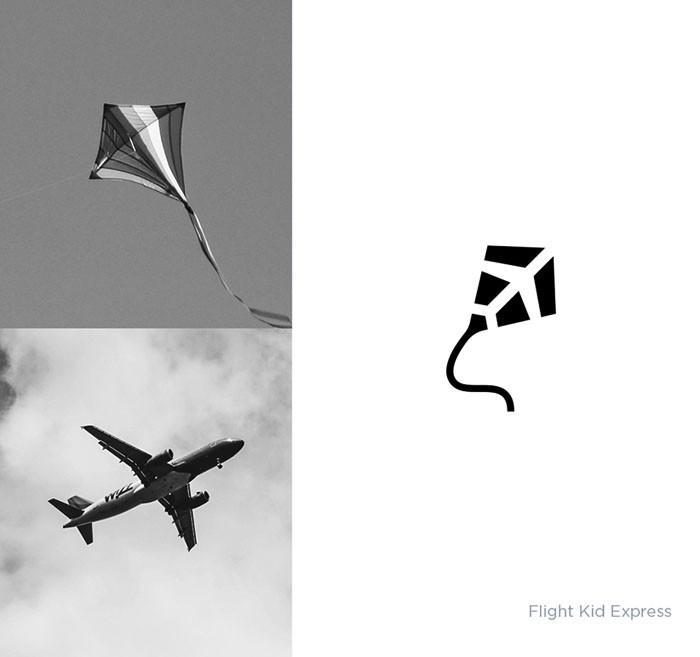13个实物元素结合形式的标志设计作品