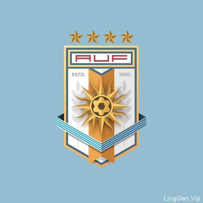 委内瑞拉Moises 2018世界杯主题徽章LOGO设计