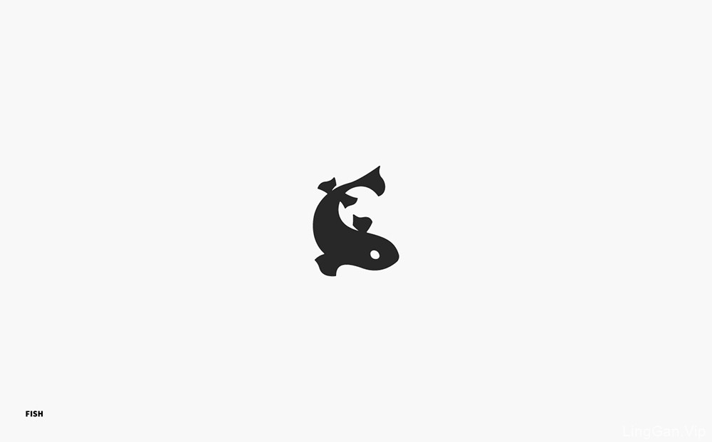 单色光影!14款剪影图形Logo设计
