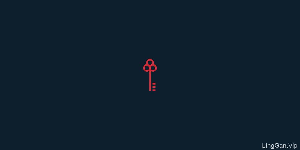 精致红白!48款单色双色Logo设计