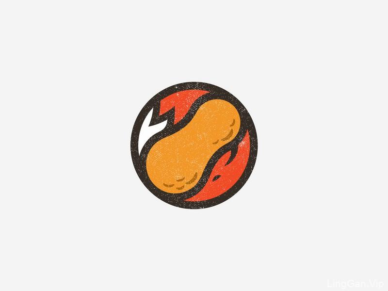 喷香零食!18款花生造型Logo设计
