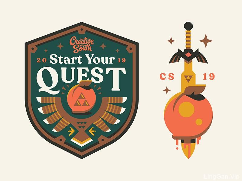 趣味故事!30款精致插画风Logo设计