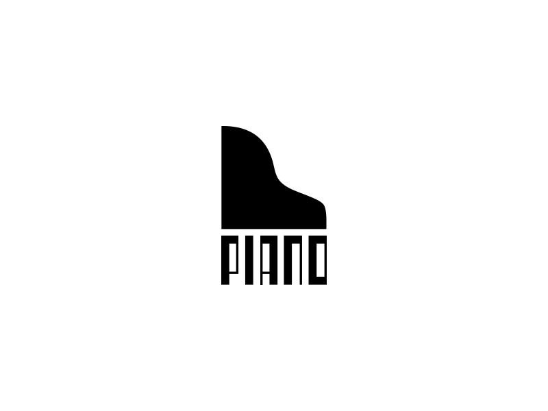 黑白琴键!36款钢琴元素Logo设计