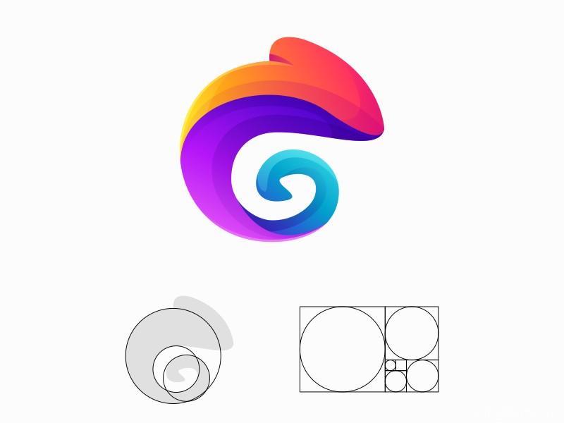 灵动曲线!16款生动渐变Logo设计