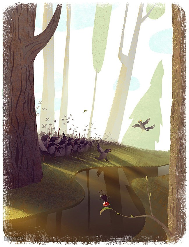 儿童读物插图-保卫森林