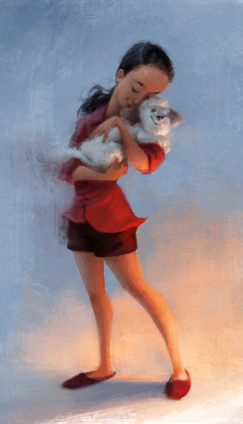 泰国画师Wanchana Intrasombat的作品