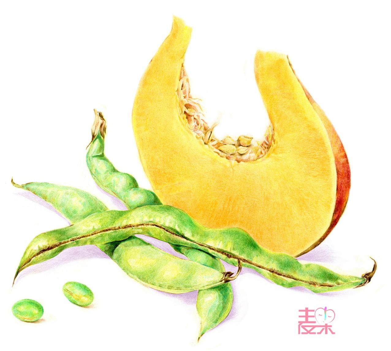 《你也可以画得很美》—果蔬 南瓜&豆角