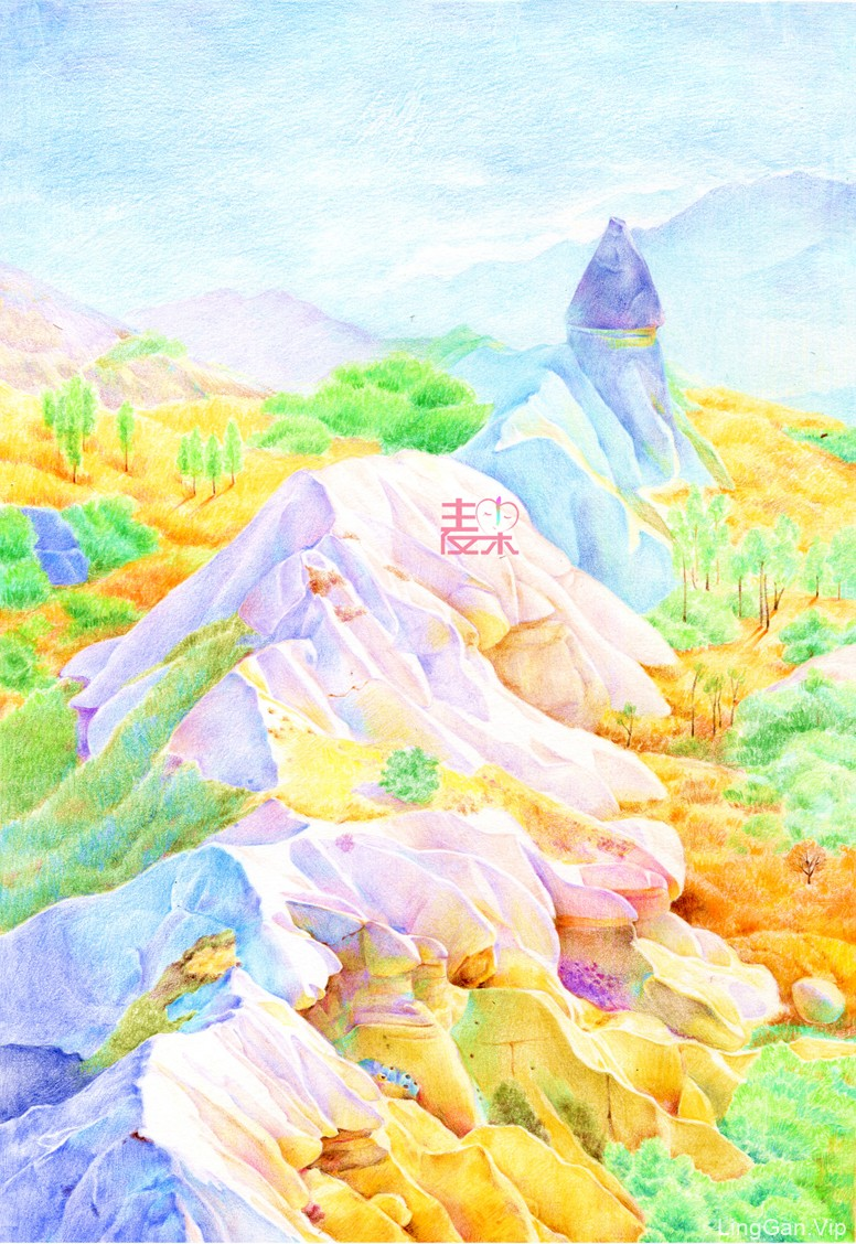 《你也可以画得很美》—风景 峻峭山脉