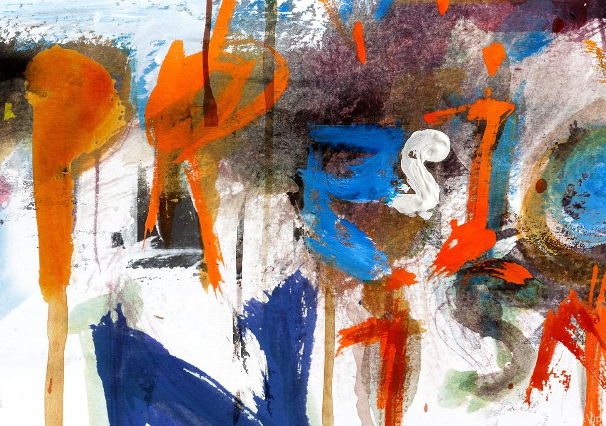 彩色涂鸦Abstract Expressionism图形设计