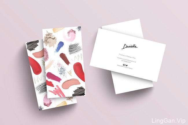 国外化妆师Danielle时尚名片设计欣赏