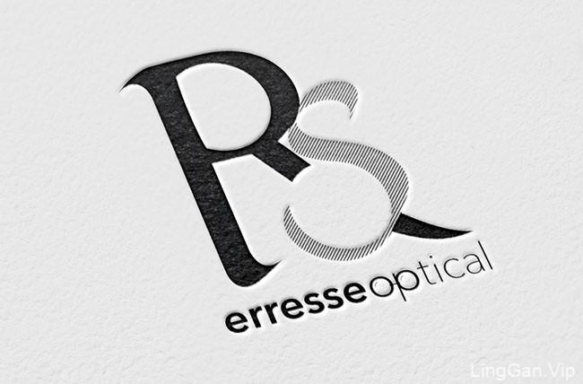 Erresse Optical眼镜品牌创意名片设计欣赏