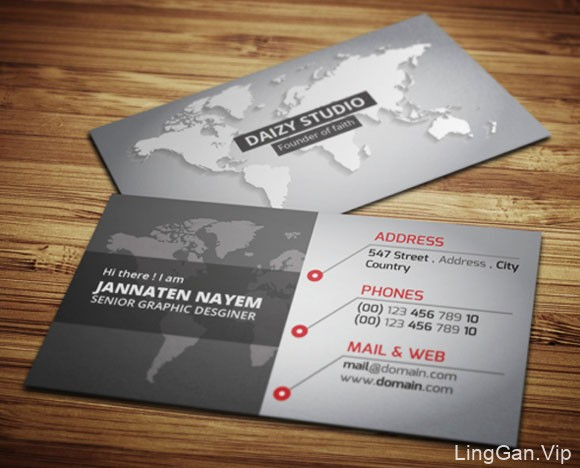 Jannaten Nayem商务名片设计赏析