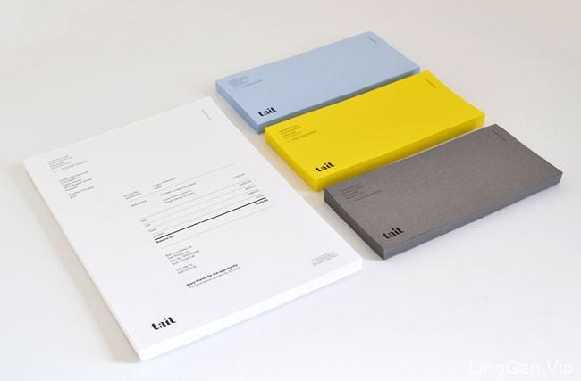 纯色Tait品牌名片设计欣赏