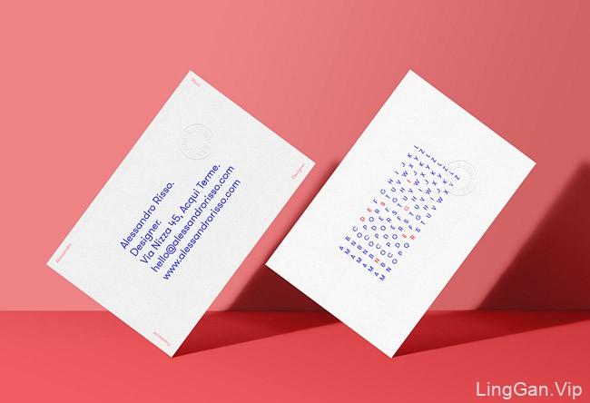 意大利设计师Alessandro Risso极简创意名片设计