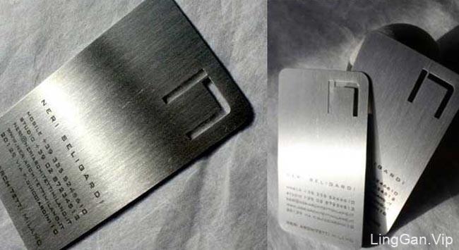 创意金属镂空名片设计欣赏
