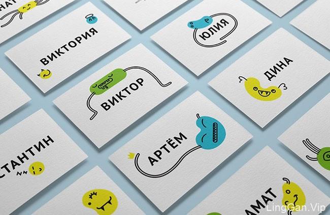 Optima品牌可爱的插画名片设计欣赏