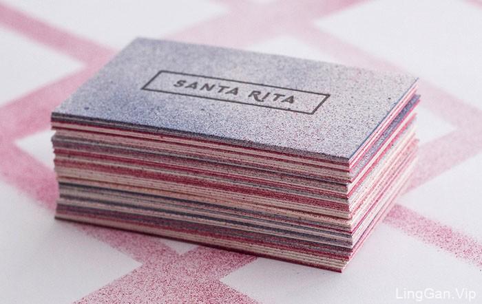 漂亮的SANTA RITA手工名片设计