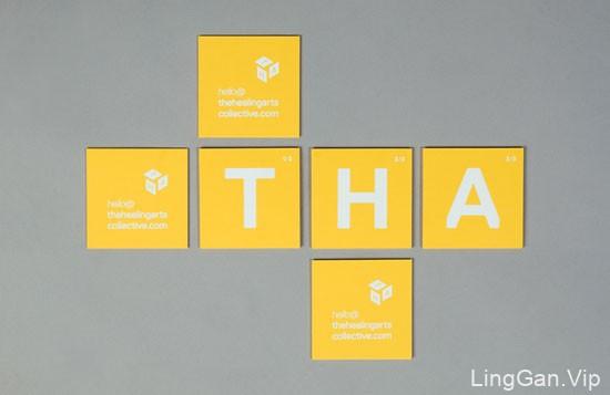 独具创意的黄色系商务名片案例分享