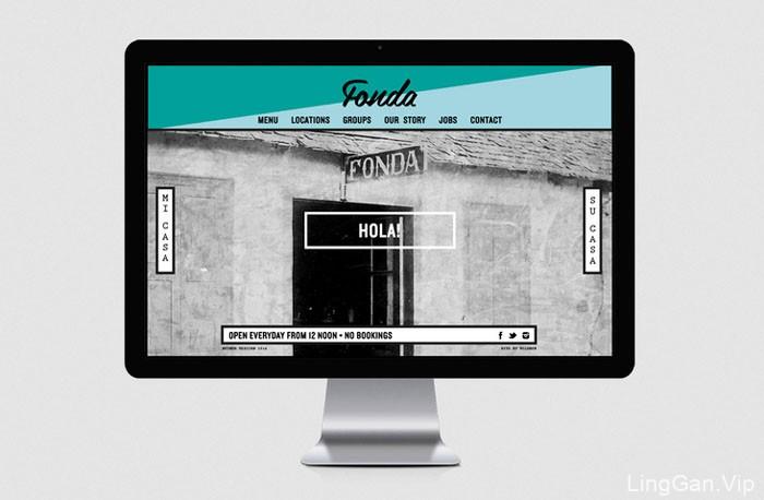 Fonda餐厅名片与形象设计欣赏