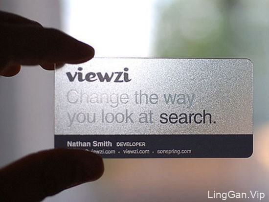 透明名片设计欣赏