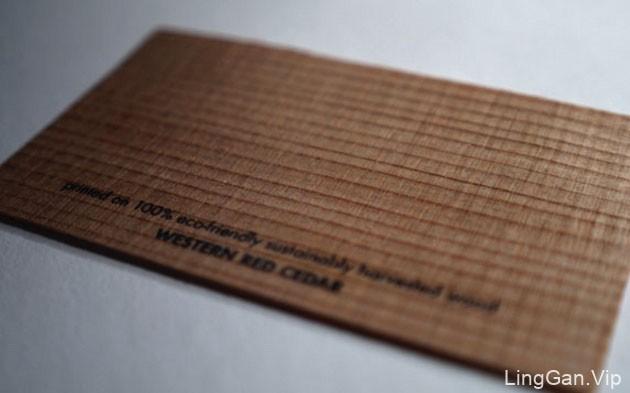 20款国外漂亮的创意木制名片设计