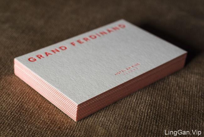 国外精致的Grand Hotel酒店形象卡设计