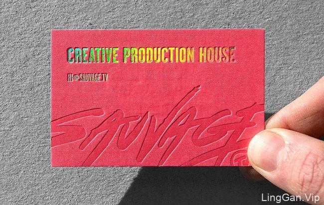 Sauvage.tv创意视听制作公司名片设计