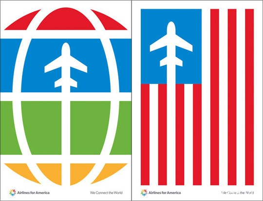 Airlines for America(美国A4A航空协会)新形象