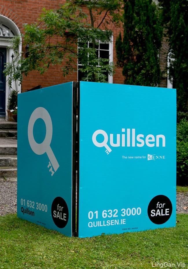 打开市场的钥匙:爱尔兰房地产中介Quillsen品牌形象