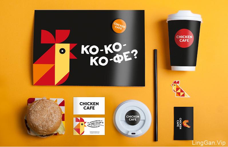 外国连锁快餐店(Chicken Cafe)品牌形象设计