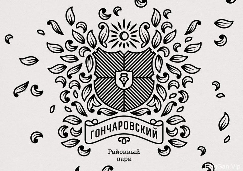 俄罗斯地方城市公园VI形象设计