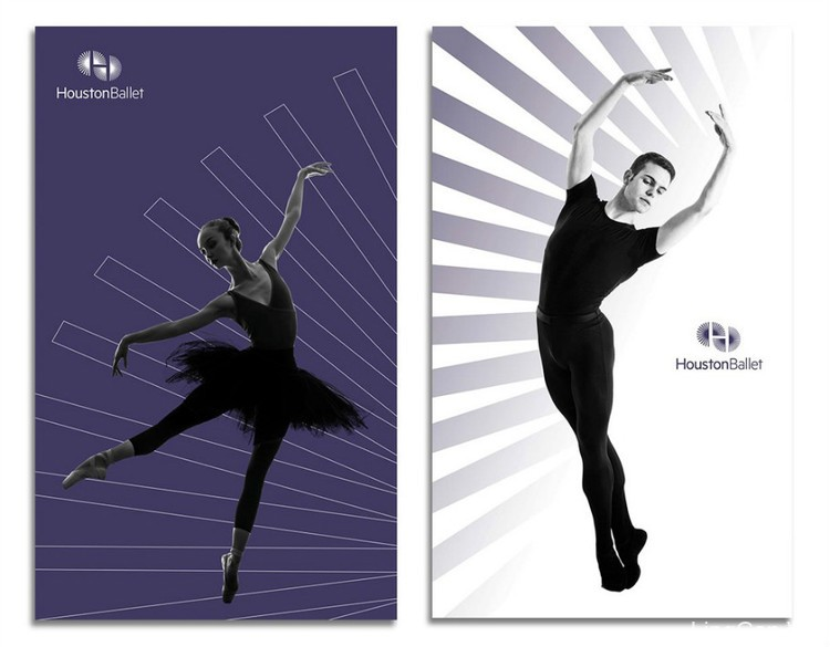 休斯顿芭蕾舞团新LOGO巧妙传神