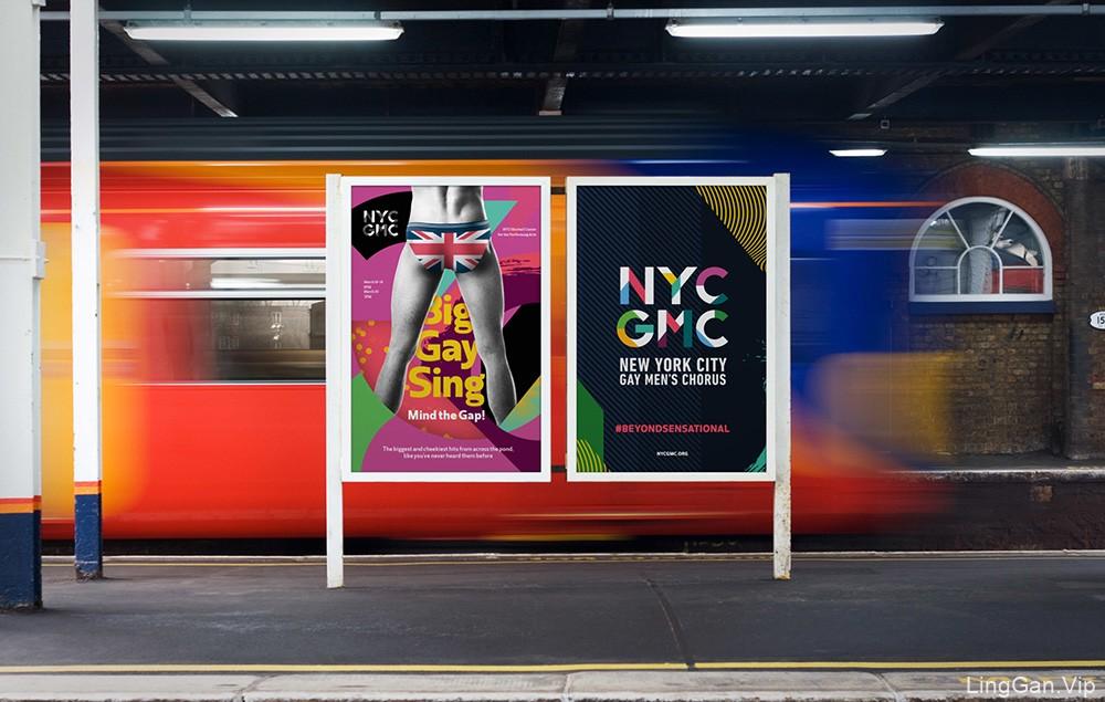 纽约同性恋男子合唱团(YNCGMC)视觉形象设计欣赏