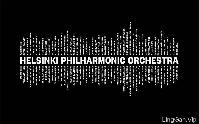 芬兰赫尔辛基爱乐乐团Logo创意