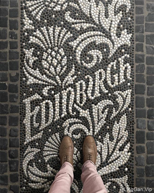 国外超赞的马赛克地板拼花LOGO,让人流连忘返!