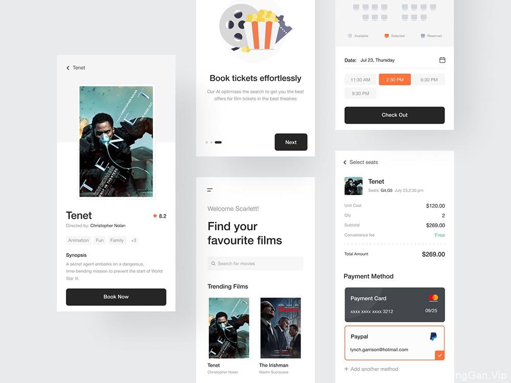 12款电影购票支付APP界面设计