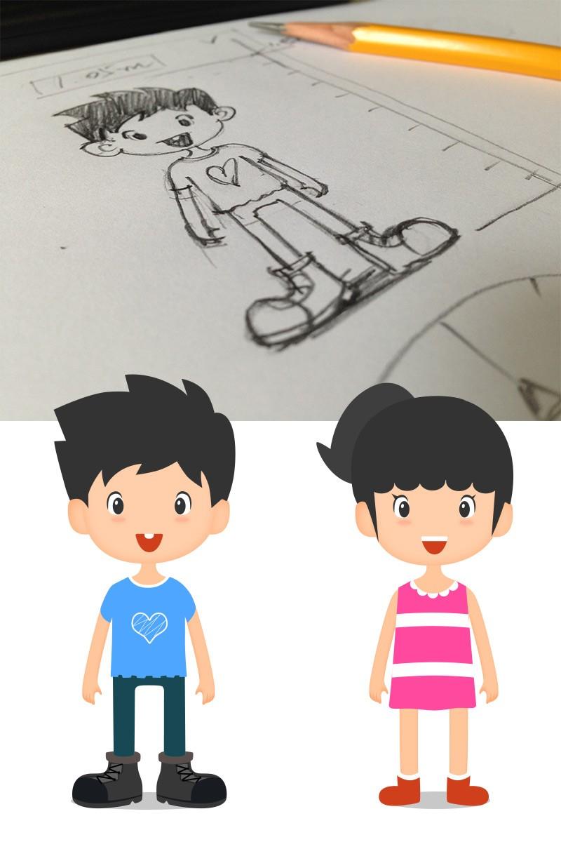 卡通/萌画/儿童漫画/插画/手绘儿童欣赏
