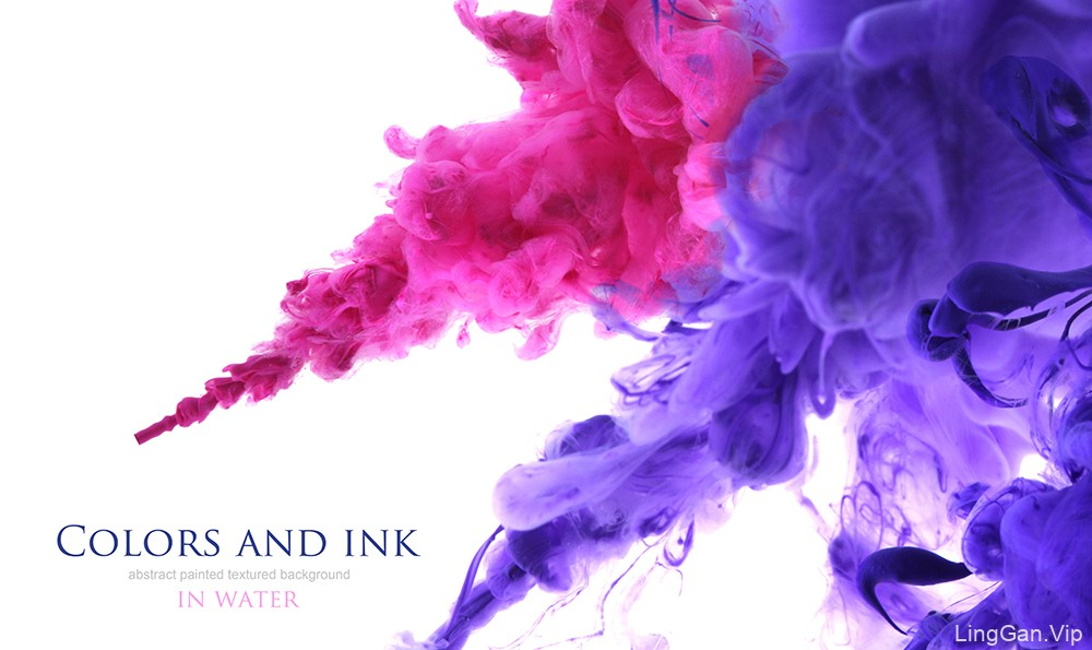 水中晕染的彩色墨水