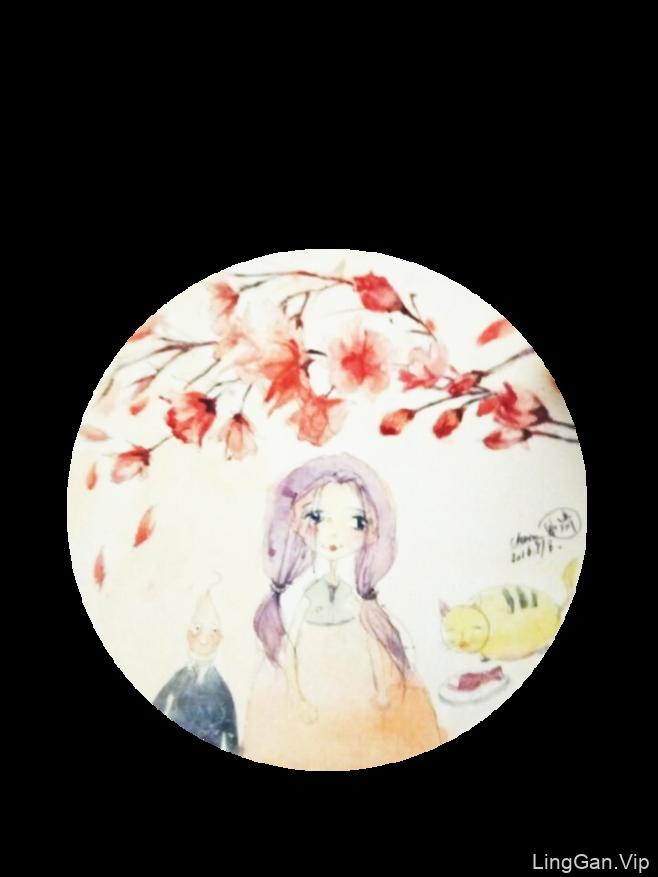小女孩-插画
