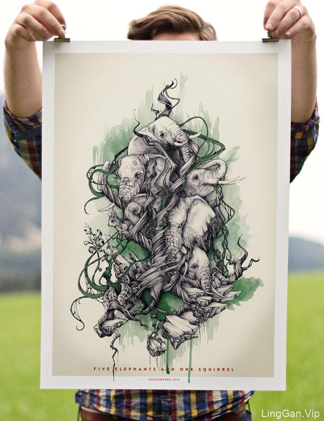 奥地利Hans Kogler手绘插画海报创意设计分享