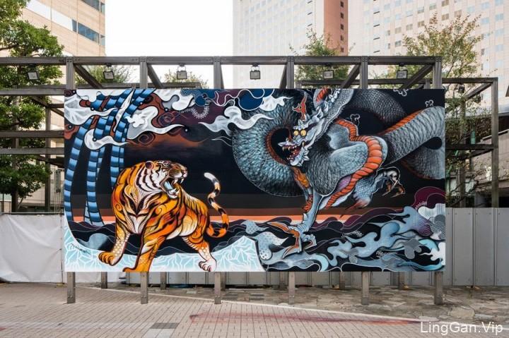东京Tennozu Isle街头艺术插画与壁画作品分享